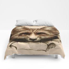 Hallo Fuchs! Mixed Media Art Comforters