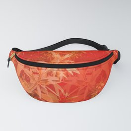 Beautiful red foliages - illustration of garden Fanny Pack