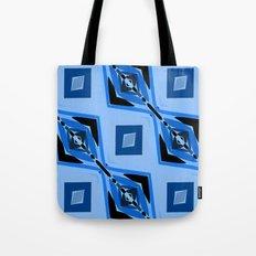 Black and Blue Diamond abstract Tote Bag