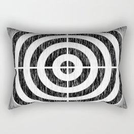 Static Bullseye Rectangular Pillow
