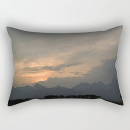 Sunset after the rain behind the mountains Rectangular Pillow
