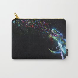Crystal T-Rex in Space Carry-All Pouch