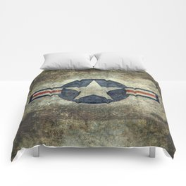 USAF vintage retro roundel #2 Comforters
