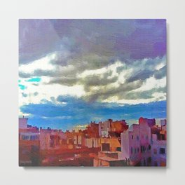 When the afternoon falls on Alicante Metal Print