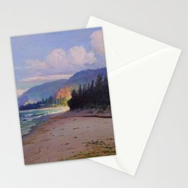Rays of Sun on the Windward side of Oahu, Hawaiian landscape painting by D. Howard Hitchcock Stationery Cards
