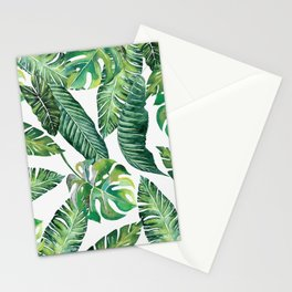 Jungle Leaves, Banana, Monstera #society6 Stationery Cards