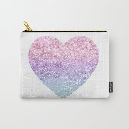 Unicorn Girls Glitter Heart #1 #shiny #pastel #decor #art #society6 Carry-All Pouch