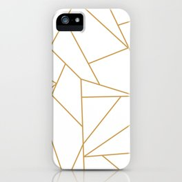 Geometric Gold Hexagon Pattern iPhone Case