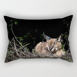 Napping Cat Rectangular Pillow