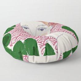 Plants on pink Floor Pillow