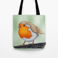 Knitted Robin Tote Bag