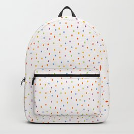 Hand painted tiny rainbow dots confetti . Backpack