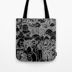 Oodles of Doodles of Singapore (Black) Tote Bag
