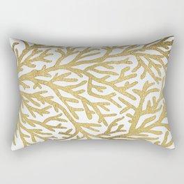 Gold Coral Rectangular Pillow