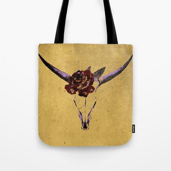 Grunge Animal Skull Tote Bag