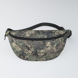 Ahegao camouflage Fanny Pack