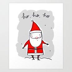 Christmas Ho, Ho, Ho (color) Art Print
