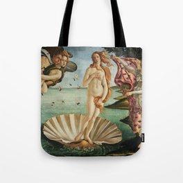 The Birth of Venus by Sandro Botticelli, 1445 Tote Bag