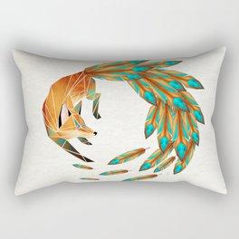 fox circle Rectangular Pillow