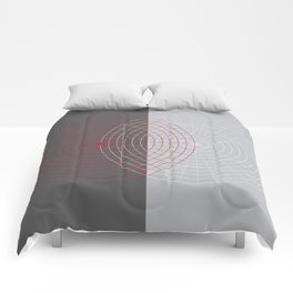 Confused lines Comforters