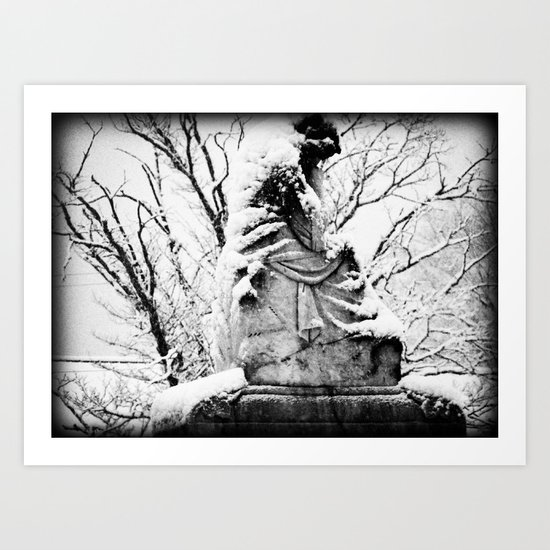 against the cold Art Print