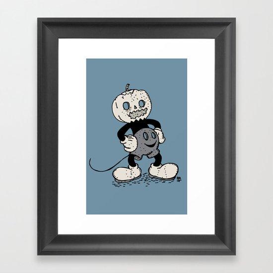 Mickey Pumpkin (desaturated) Framed Art Print