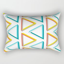 Impossible triangles geeky pattern. Rectangular Pillow