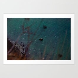 Down there Art Print