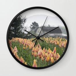 Faded Tulip Barn Wall Clock