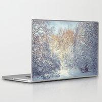 blanket Laptop & iPad Skins featuring White Blanket by Dirk Wuestenhagen Imagery