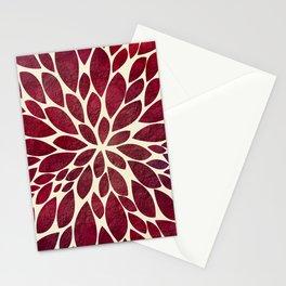 Petal Burst - Maroon Stationery Cards