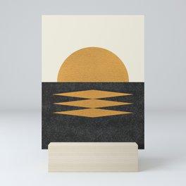 Sunset Geometric Mini Art Print