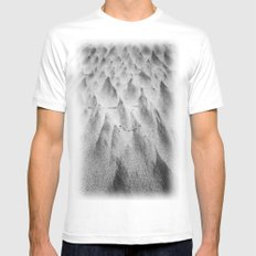 Shapes in the Sand II Mens Fitted Tee White MEDIUM