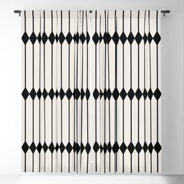 Minimal Geometric Pattern - Black Blackout Curtain