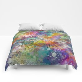 PAINT STAINED ABSTRACT Comforters