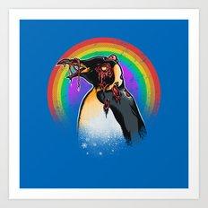 Zombie Penguin Art Print