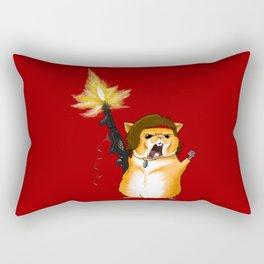 Hamster Rambo - by Rui Guerreiro Rectangular Pillow