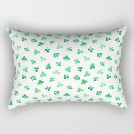 Clover Leaves on White Pattern Rectangular Pillow