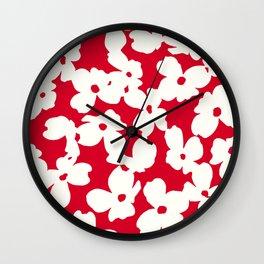 Dogwood: RED Wall Clock