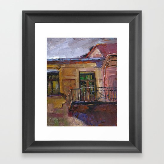 balconyIV Framed Art Print