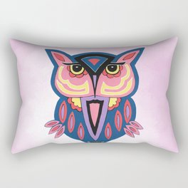 Owl On Pink Rectangular Pillow