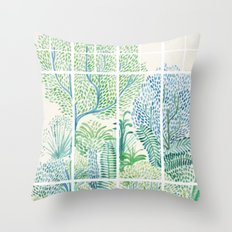 Winter in Glass Houses I Throw Pillow