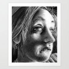 Drawing Melanie Art Print