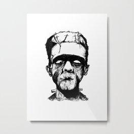 His Monster Metal Print