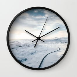 road in iceland Wall Clock