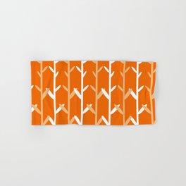 Oat Field Leafy Orange Pattern Hand & Bath Towel