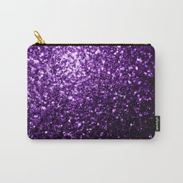 Beautiful Dark Purple glitter sparkles Carry-All Pouch