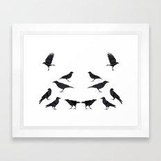 kargalar (crows) Framed Art Print