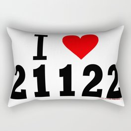 "Pasadena, Maryland ""I Heart 21122""  Rectangular Pillow"