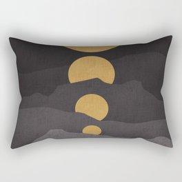 Rise of the golden moon Rectangular Pillow